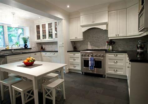 kitchen floor ideas with white cabinets black slate kitchen floor design ideas