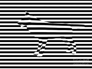 Wolf Optical Illusion Painting by Pixel Chimp