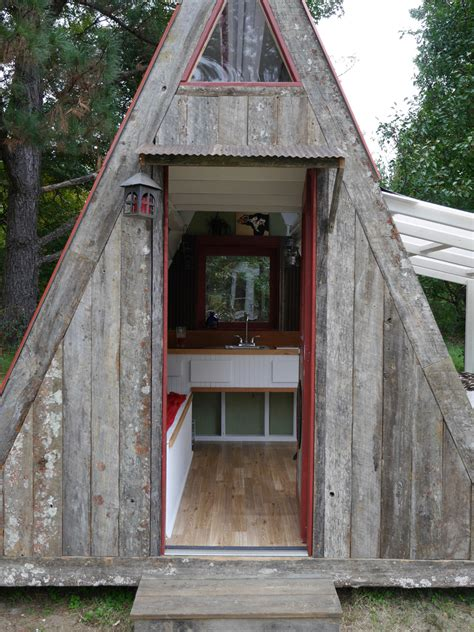 Small A Frame House by Transforming A Frame Tiny House Swoon