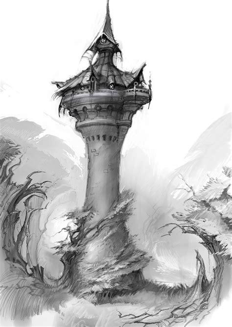 hog heaven  art  todd harris rapunzels tower heaven art fantasy art rapunzel tower