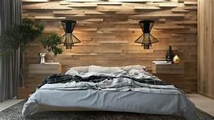 Deco Mur En Bois Planche : mur en bois pour une d co originale de chambre coucher ~ Dailycaller-alerts.com Idées de Décoration