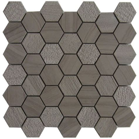 Lowes Canada Hexagon Tile by Bestview Athena 12 In X 12 In Mosaic