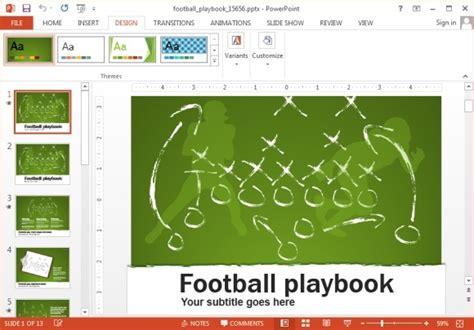 football playbook template animated football playbook powerpoint template powerpoint presentation