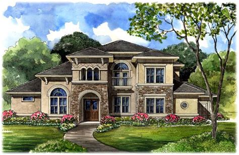 tuscan style house plan    sq ft  bed  bath   bath