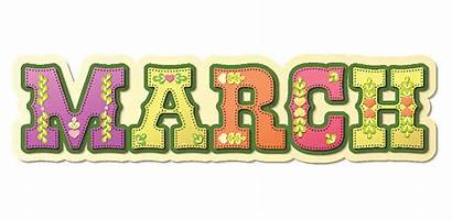 March Month Calendar Clipart Months Illustrated Names