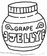Coloring Jelly Peanut Clipart Butter Outline Grape Jar Cliparts Template Library Clip Clipartbest Clipground Sketch sketch template