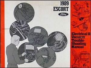 1989 Ford Escort Foldout Wiring Diagram Original