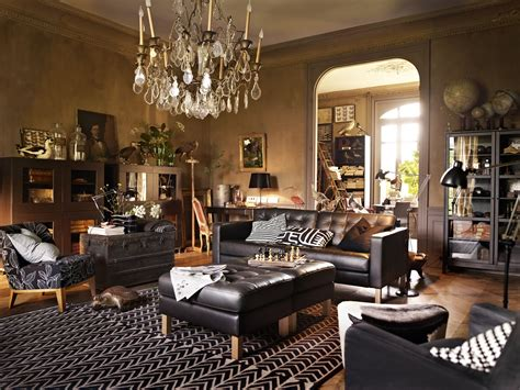interior  beautiful home  steampunk living room