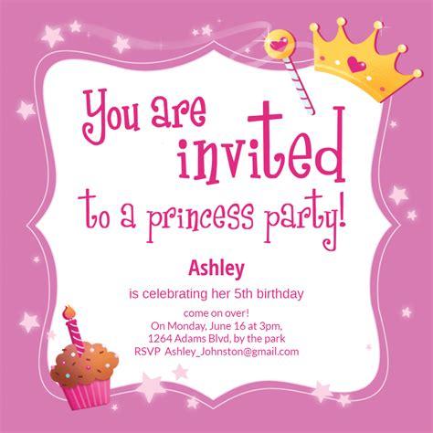 Princess Magic Birthday Invitation Template (Free
