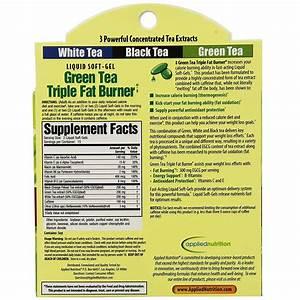 Applied Nutrition Green Tea Triple Fat Burner - 30 Liquid Softgels