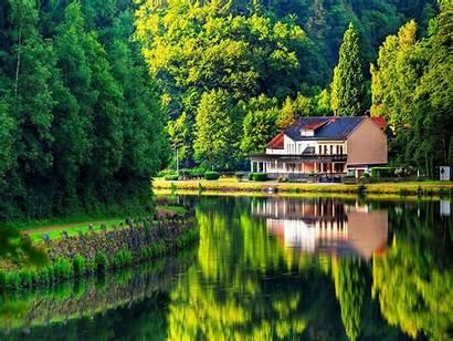 Lake Desktop Wallpapers Forest Casa Backgrounds Lago