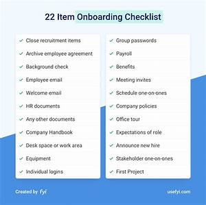 The 22 Item Onboarding Checklist To Get Great Work From