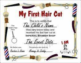 1000 ideas about first haircut on pinterest baby39s With my first haircut certificate template