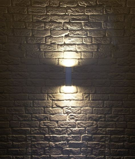 up and down wall lights ip44 square up down wall light h 225mm