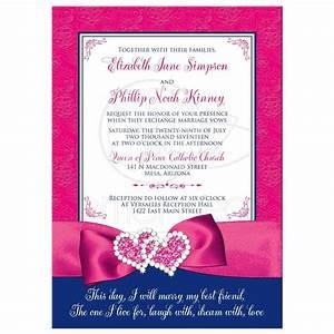 wedding invitation royal blue pink white floral With royal blue and red wedding invitations