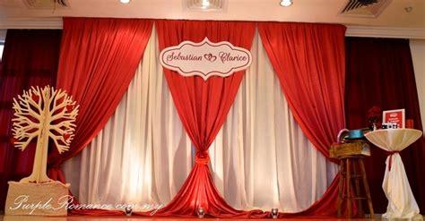 wedding decoration  bukit mewah club kajang maroon