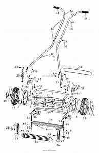 Husqvarna Walk Mower Parts Diagram For 64 Novocut Reel
