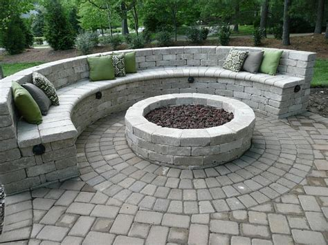 semi circle seating around pit house remodel ideas