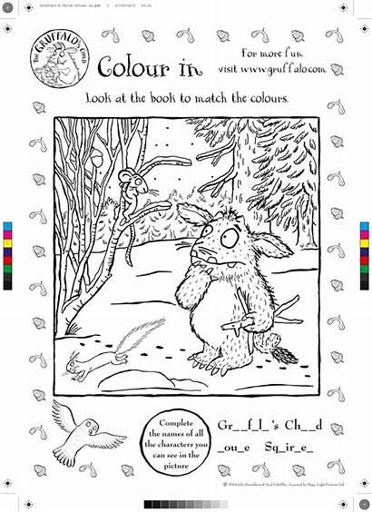 Gruffalo Colouring Activities Child Sheets Sheet January