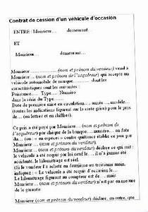 Papier De Vente D Un Véhicule : contrat de cession d 39 un v hicule d 39 occasion ~ Gottalentnigeria.com Avis de Voitures