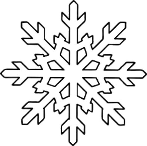 snowflake outline printable  sided snowflake template