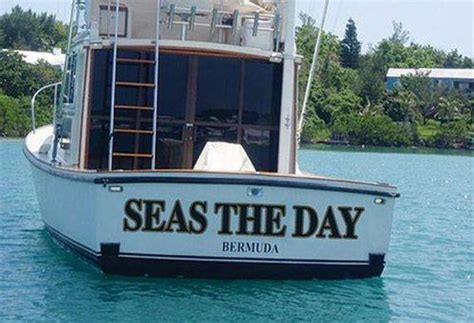 Clever Boat Names by Funniest Boat Names Of All Time Barnorama