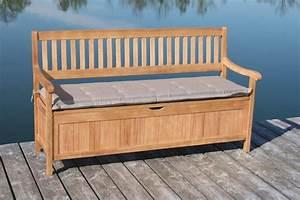 gartenbank truhenbank 3 sitzig aus fsc eukalyptus 157 cm With französischer balkon mit truhe garten