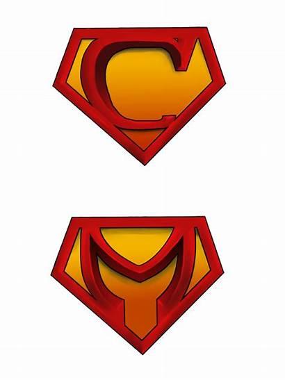 Superman Letter Letters Superhero Different Clip Blank