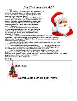 secret santa letter  staff  casey south teachers