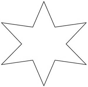6 Point Star Template Printable Free