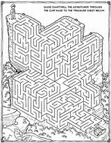 Mazes Printable 3d Coloring sketch template
