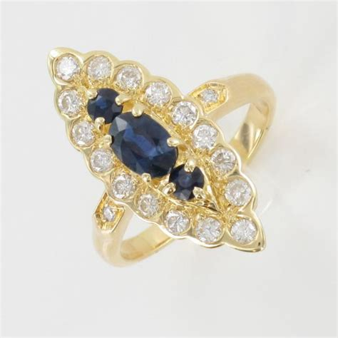 bague marquise or jaune bague marquise or jaune saphir diamant