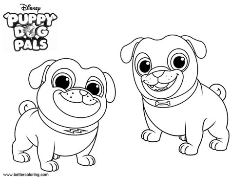 puppy dog pals coloring pages  printable coloring pages