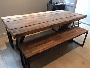 Pied De Table Metal Carré : table industrielle paris vente mobilier et meuble industriel ~ Teatrodelosmanantiales.com Idées de Décoration