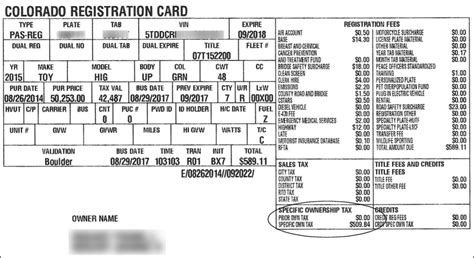 colorado registration ownership tax receipt colorado tax aide resources