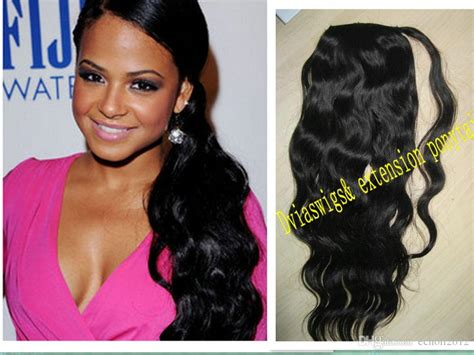 Wet And Wavy Wraps Pony Tail Hairpiece Natural Brown Human