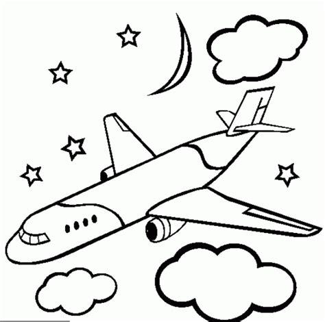 mewarnai gambar pesawat terbang yang bagus airplane