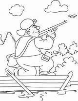 Coloring Hunter Hunting Pages Bird Flying Shot Duck Boat Deer Coloringsky Sheet Printable Sky Getcolorings sketch template