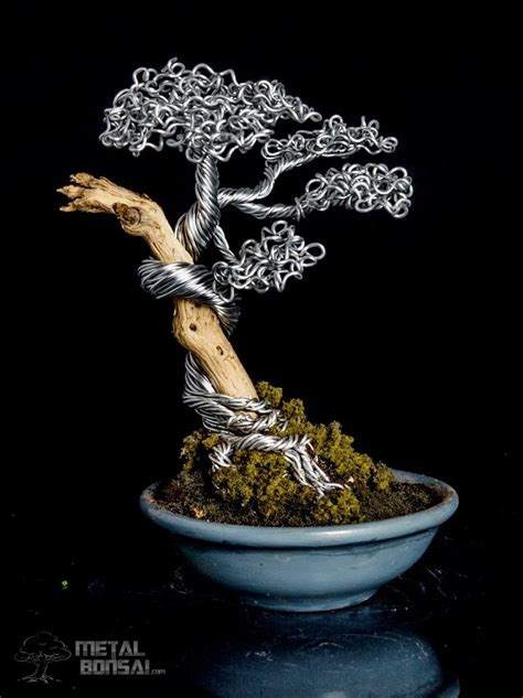 metal bonsai tree art sculpture wire bonsai tree