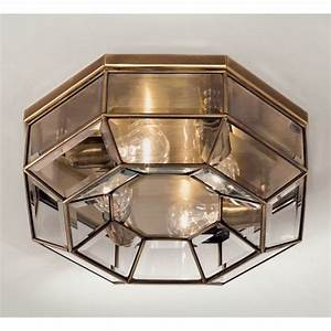 Marsia Octagon Ceiling Light Medium In Brass Christophe