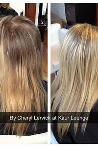 Before and after: full head of highlights touched up! She ...