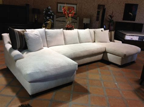 double sofas in living room double chaise sectional for complete and perfect welcoming