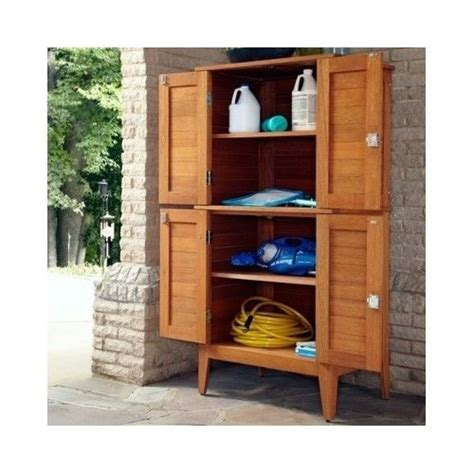 outdoor patio storage cabinet wooden 4 door multi purpose storage cabinet garden patio