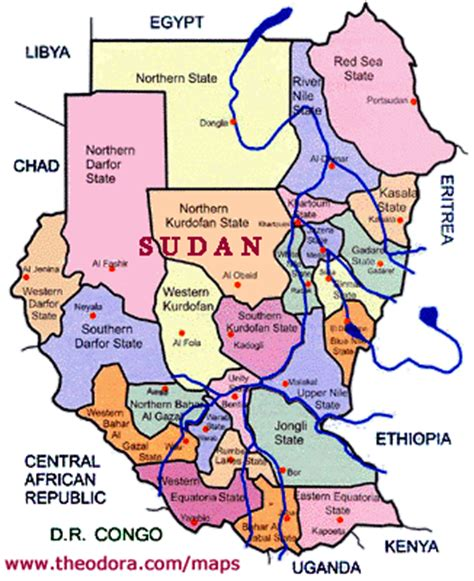 ABC Maps of Sudan; Flag, Map, Economy, Geography, Climate ...