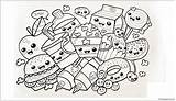 Pages Coloring Printable Desserts sketch template