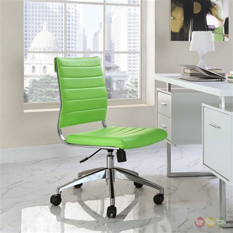 jive armless upholstered ribbed vinyl mid back office
