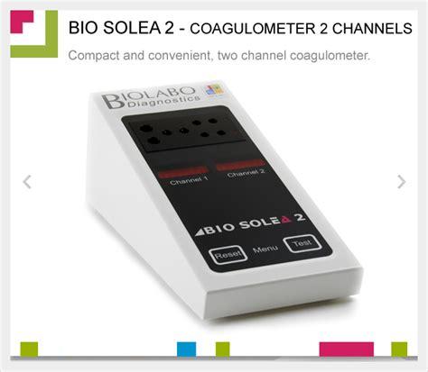 bio solea  coagulometer  channels labsolution