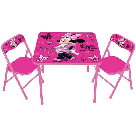 activity table and chairs disney minnie mouse activity folding table and padded