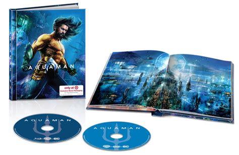 aquaman blu ray steelbook retailer exclusives detailed
