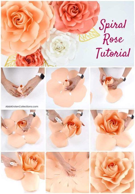 diy paper roses    giant spiral center paper